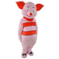 Dia das bruxas Feliz Leitão Porco Traje Da Mascote de Alta Qualidade Dos Desenhos Animados Rosa Porco Anime caráter personagem de Carnaval de Natal Fantasia Trajes
