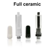 Cre-C complet en céramique Cartouches cellulaires en céramique Embouchure Coil en céramique et le pilier Vape cartouches de l'atomiseur trous de 2.0mm