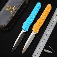 VESPA Messer vor der Tür Tactical Kampfmesser D2 Stahlklinge Aluminum Handle Taschenmesser Outdoor-Camping Jagdmesser Überleben EDC-Tool