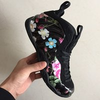 2019 New Floral CNY Midnight Navy Gum Penny Hardaway Männer Basketball Schuhe Gute qualität Schwarz Blau Herren Schaum Sport Turnschuhe 7-13.