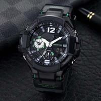высокое качество мода мужские военные ударные наручные часы 52 мм многофункциональный светодиодный цифровой шокирующий Кварцевые спортивные часы с коробкой