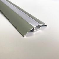 светодиодный корпус, светлый алюминиевый корпус, 12 мм широкий край, светодиодный алюминиевый профиль, матовая прозрачная крышка, потолочный профиль