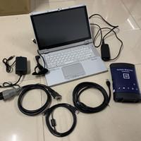 G-M MDI com WIFI sem fio e soft-ware auto diagnóstico ferramenta de interface número de interface OBD2 com laptop usado CF-AX2 I5 4G e 240GB SSD