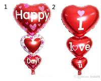 Palloncino 2 Misure Baloon Big I Love You ang Happy Day Partito palloncini Decorazione del cuore fidanzamento Anniversario Nozze San Valentino Balloons G924