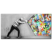 Pull The Curtain Huge Oil Painting On Canvas Home Decor Hand...