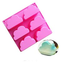 6 cavity cloud mousse cake fondant silicone mold for chocola...