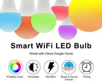 الذكية WIFI LED لمبة RGB دافئ الأبيض الباردة الضوء الأبيض E27 7W AC85-265V LED لمبة العمل مع الأمازون اليكسا صفحة Google الرئيسية