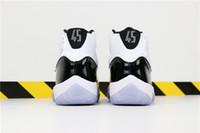 finest selection b5aad 8beb4 NIKE Air Jordan J11 Concord blanco negro Artículo No. 378037-100 45 bordado,