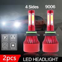 자동차 조명 9006 HB4 4 양면 LED 헤드 라이트 변환 키트 전구 2000W 300000LM 6000K