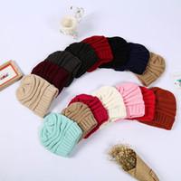Herbst und Winter Strickmütze Wollmütze warmer einfach erwachsene gefesselte Kopfkappe Vielzahl von Farben XD22230