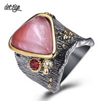 Deczign Recommend New Gothic Big Rings for Women Water Melon...
