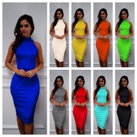 14 Colors Womens Summer Sexy Dresses Sheath Cloumn Slim Danc...