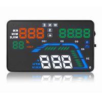 """Evrensel Q7 5.5 """"Araba HUD HEAD Up Display Hızölçerler Araba Aşırı Hız GPS Uyarı Dashboard Cam Projektör Yansıtıcı Film"""