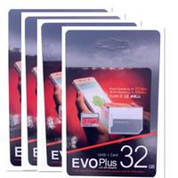 2019 베스트 셀러 블랙 EVO 64GB 128GB 256GB C10 TF 플래시 메모리 카드 U1 U3 무료 SD 어댑터 소매 패키지