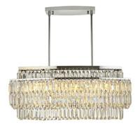 Levou italiana de luxo cristal pingente luzes da sala modelo depois que a lâmpada Nordic simples quarto moderno restaurante cristal AC 90-260V