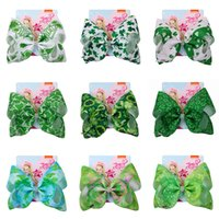 Jojo Siwa Hair Bow Hairpins for Saint Patrick Clover Printed...