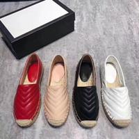 2020 NEW Schnürsenkel 41 Original-Logo Schuhkarton lässig aus echtem Leder Frauen Stroh gewebt Fischer Schuhe alleinige flache Schuhe Freizeitschuh