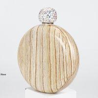 Acier inoxydable Flasque diamant rond Bouteille alcool portable mini pichet de vin Outdoor Round vin Pot GGA3244-1 Flasques