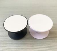 20pcs Sublimação Círculo Celular Titular com Groove Em Branco Sublimação de Alumínio Inserto para Personalizado Personalizado Grip Telefone Stand Mount H