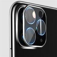 iphone 11 pro max 3D Full Geri Kamera Temperli Film Alüminyum Metal Lens Case Telefon Mercek Ekran Koruyucu