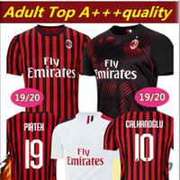 2019 2020 AC Fussball Jerseys Paqueta 19 20 Maglietta da Calcio Red Black Camiseta de Fútbol Suso Bakayoko Maillots de Football