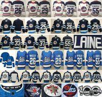 2020 nuevos jets de Winnipeg # 29 Patrik Laine Jerseys 26 Blake Wheeler 33 Dustin 37 Connor Hellebuyck 55 Mark Scheifele Man Mujeres Niños Jóvenes