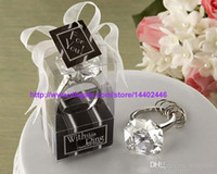 무료 배송 50pcs이 반지 다이아몬드 키 체인 화이트 키 체인 웨딩 부탁 선물 선물