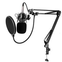 BM-800 Music Studio Broadcasting Recording Studio Capacitor Microfone Música Gravação Mic para PC portátil Record KTV Singing
