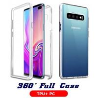 360 Grad Full Cover Clear Stoßfest Hülle Schutzabdeckung für iPhone 12 PRO MAX 11 XS MAX XR 8 PPLUS Samsung S10 Plus S20 Plus Anmerkung 20