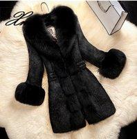 모피 칼라 여성 블랙 자켓 가짜 모피 코트와 함께 2020 겨울 여성 코트 겉옷