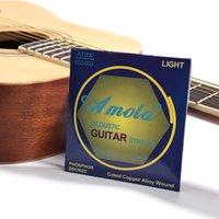 Fosfor Bronz Akustik Gitar Dizeleri, Özel Işık Akustik Halk Klasik Acemi Gitar Dizeleri Seti
