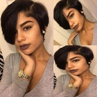 Celebrity Wigs PiXie Short Cut Lace Front Wig Dark Brown 10A...