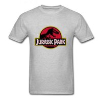 Jurassic Park Tshirt Cotton Fabric Breathable T- Shirt T- Rex ...