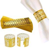 Anéis de guardanapo para o casamento decoração de mesa saia princesa príncipe strass ouro anéis de guardanapo Titular Party Supplies Hot 100pcs / lot
