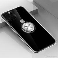 클리어 링은 아이폰 5.8 6.1 6.8 인치 실리콘 커버를 들어 아이폰을위한 자석 흡착으로 11 프로 맥스 2019 케이스 홀더 케이스 스탠드