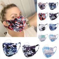 Camo divertente viso maschera lavabile riutilizzabile anti-polvere bocca mimetica in spugna anti-polvere anti-polvere designer umanizzato designer maschere di lusso