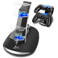 Caricatore per controller PS4 Y Team Playstation 4 Docking Station di carica Indicatore LED Dual USB di ricarica rapida per controller Sony PS4