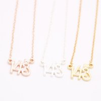 Cute child interest number 143 Pendant necklace Digital love...
