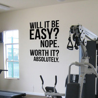 Motivazioni Absolutely.fitness Wall Quotes poster, grande Gym Kettlebell Crossfit Boxing decor letters Wall Sticker.s1