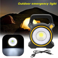 Lampes solaires alimentés par USB Portable 30W LED Projecteur Lanterns COB spot rechargeable Projecteur LED travail extérieur lampe spot 2400lm
