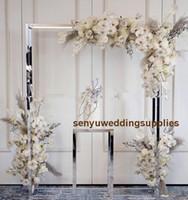 Yeni stil boyalı Altın Gümüş büyük ve uzun Düğün Metal Arka Plan Çerçeve Dekorasyon senyu0444