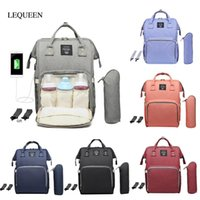 LEQUEEN USB Interface Diaper Bag Large Capacity Waterproof F...