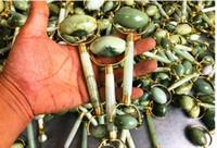 KCONYD 20/50/200 / 500PCS مصنع بالجملة الطبيعية اليشم وجها الرول شيو يان اليشم معدنية مزدوجة الدعامات شكل U