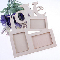 Hollow Tri- ply Wood Blank Love DIY Painting Picture Photo Fr...