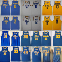 UCLA Bruins Jersey College Baloncesto Russell Westbrook Lonzo Ball Zach LaVine Kareem Abdul Jabbar Reggie Miller Bill Walton Kevin Love Blue