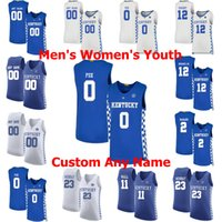 Kentucky Wildcats Escuela de Baloncesto jerseys 3 Tyrese Maxey Jersey Jamal 23 Murray Aaron 0 Fox 10 Johnny Juzang 12 pueblos cosido personalizada