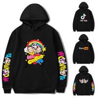 Me Contro Te Printed Hoodies 24 Styles adolescentes Mans Womans Hip Hop roupas hoodies camisolas Tik Tok Pornhub grife KSS381 Atacado