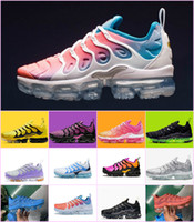 2019 nike vapormax air max tn Sunset Fades Work Blue TN Plus Mujer Zapatillas de running UVA Brillante Carmesí Hyper Rainbow Volt Wolf Gris Tns Deportes Zapatillas Chaussures