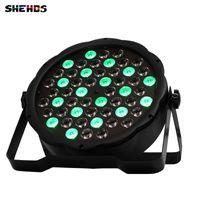 SHEHDS горячие продажи светодиодные плоские пар 54x3W освещение строб DMX512 контроллер партии Dj диско-бар строб затемнения эффект проектор