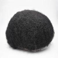 Afrika Amerikan Peruk Tam Dantel Baz Jet Siyah Afro Saç Erkek Toupee 8x10 Erkekler Ünite Sistemleri Saç Peruk